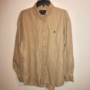 Ralph Lauren Blake Silk & Linen Button Down Shirt